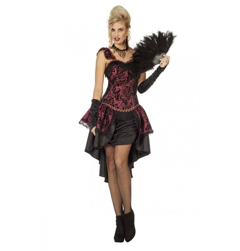 disfraz de bailarina de cabaret de los aos 20 granate para mujer