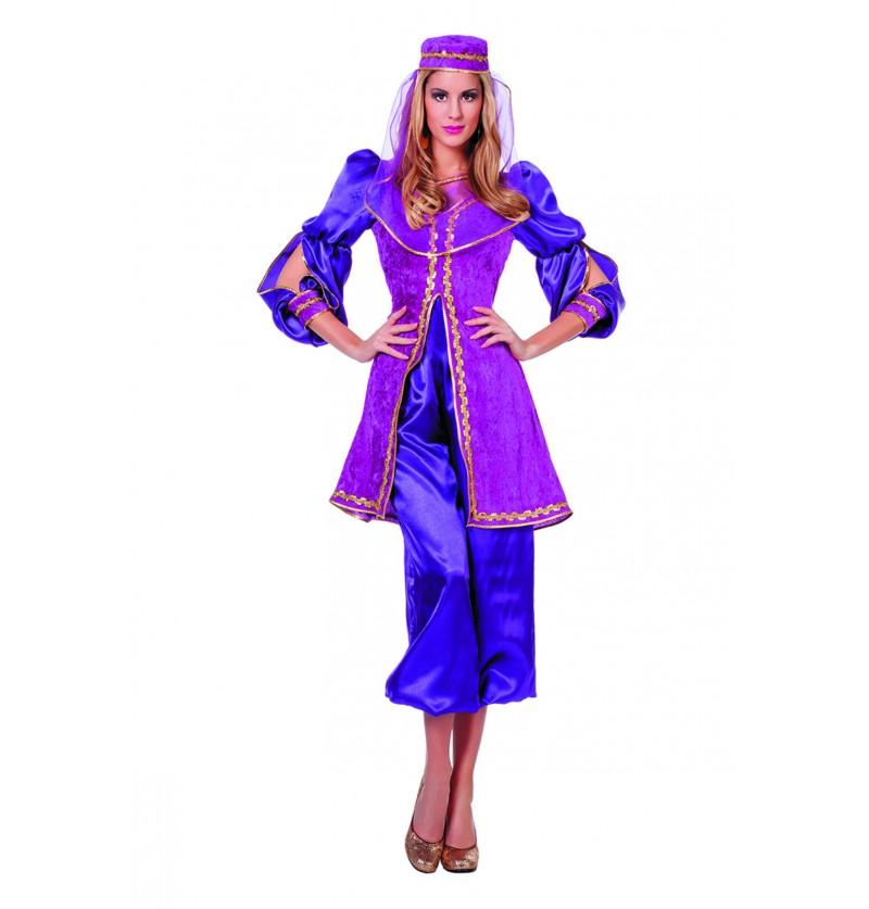 disfraz de rabe morado para mujer