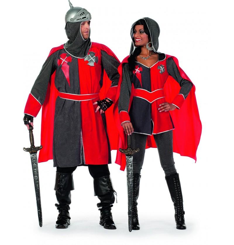 disfraz de caballero rojo para mujer