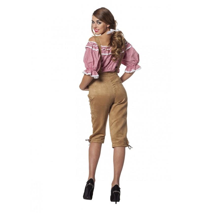 pantaln de oktoberfest beige para mujer