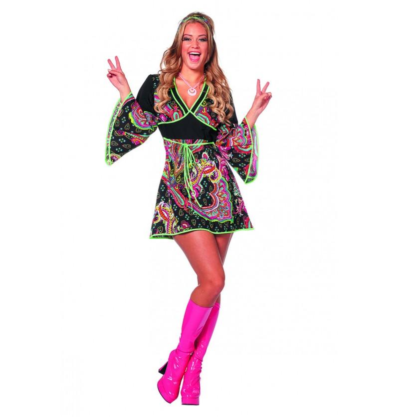 disfraz de hippie nen para mujer