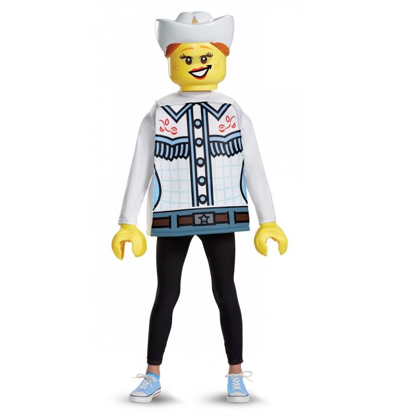 Disfraz de vaquera Lego para niña