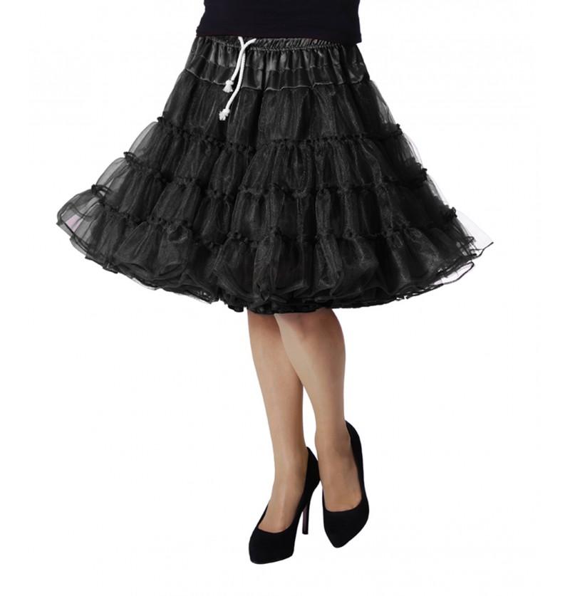 enaguas deluxe negro para mujer