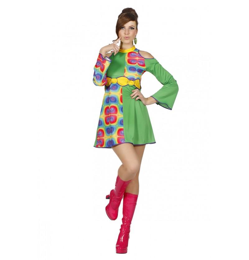 disfraz psicodlico de los 70 s para mujer