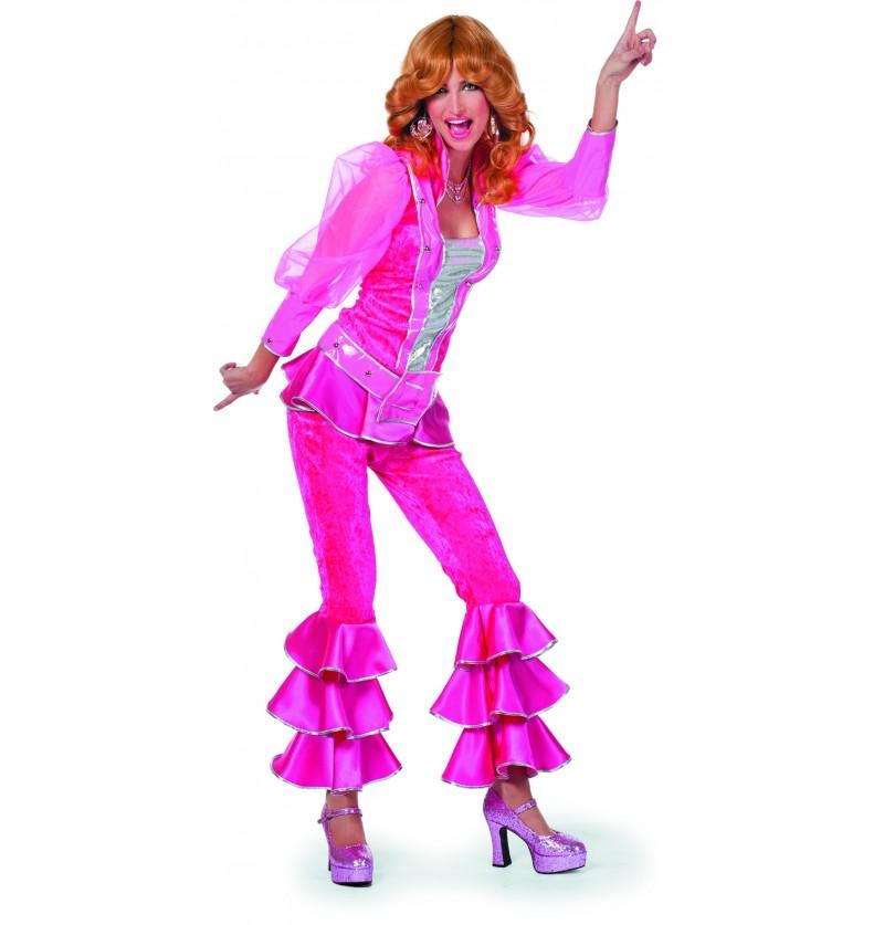 disfraz de mamma mia deluxe rosa para mujer abba