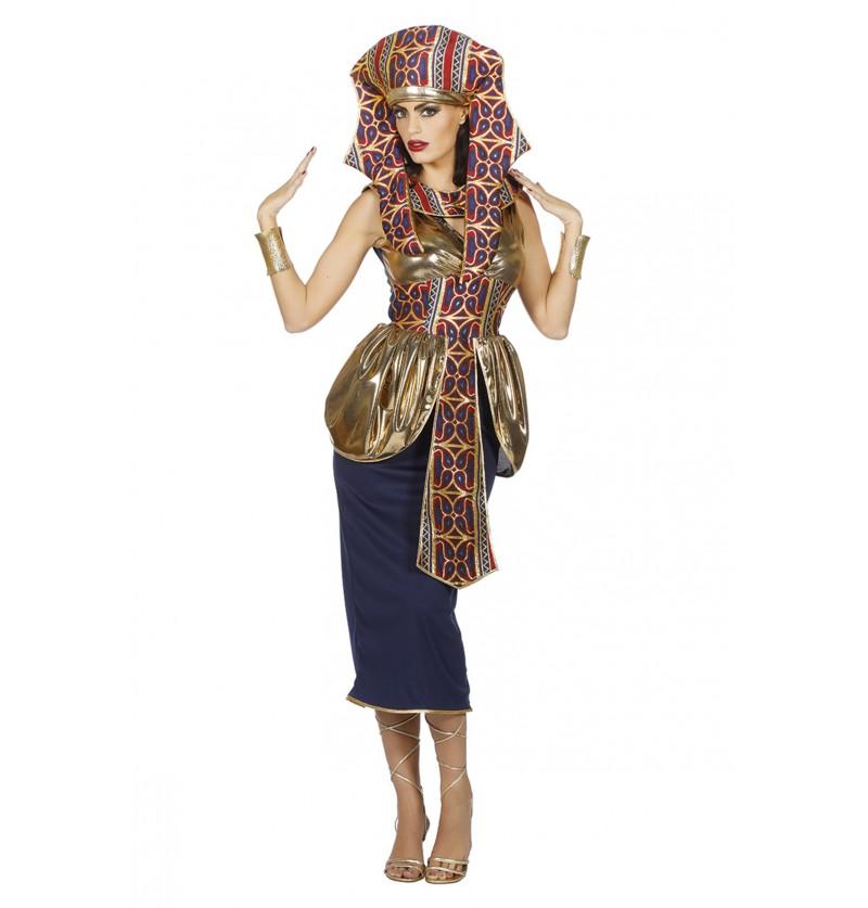 disfraz de reina de egipto dorada para mujer