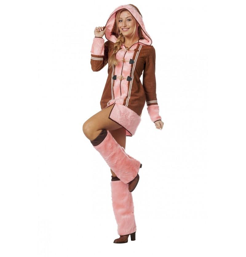 disfraz de esquimal rosa para mujer