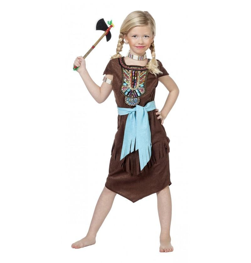 disfraz de india deluxe para nia