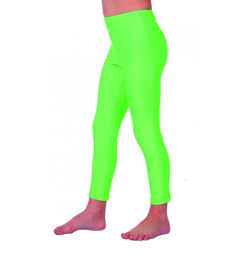 leggings de los 70 s verde para nia