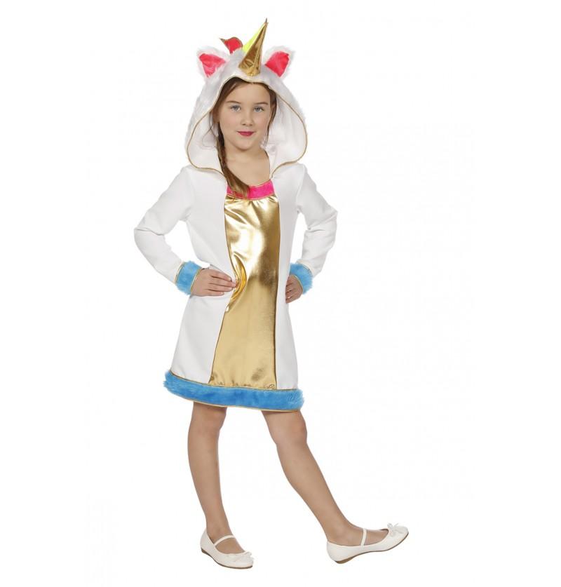 disfraz de unicornio dorado para nia