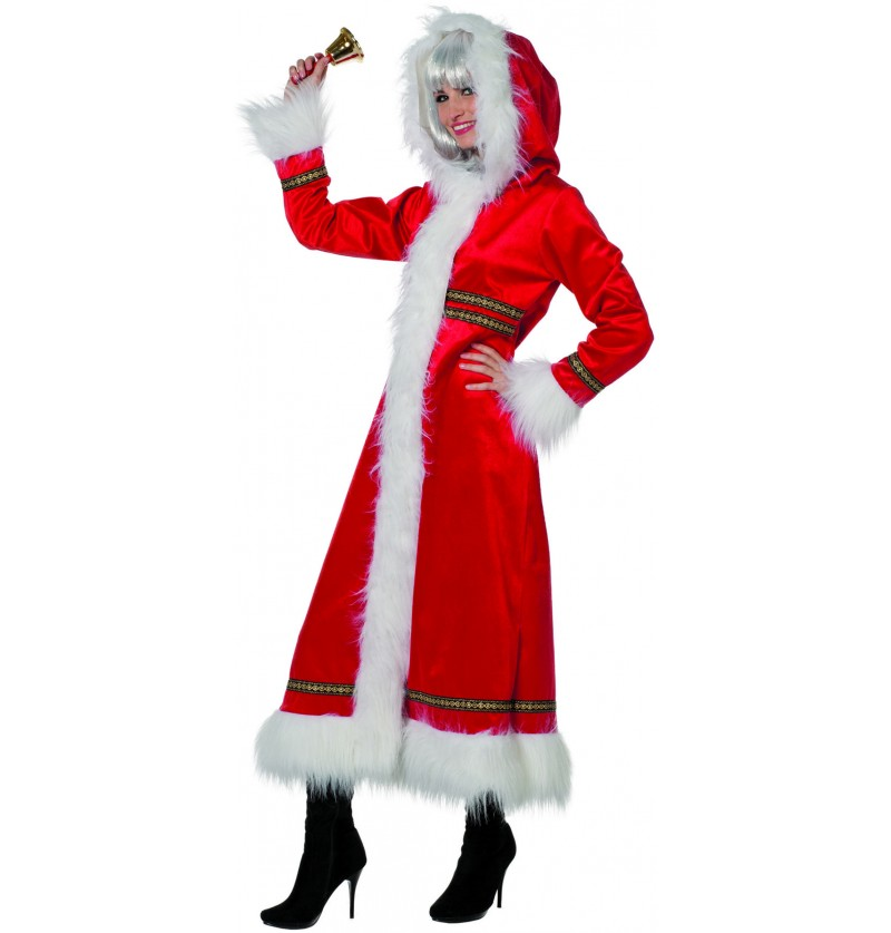 disfraz de mam noel encapuchada para mujer