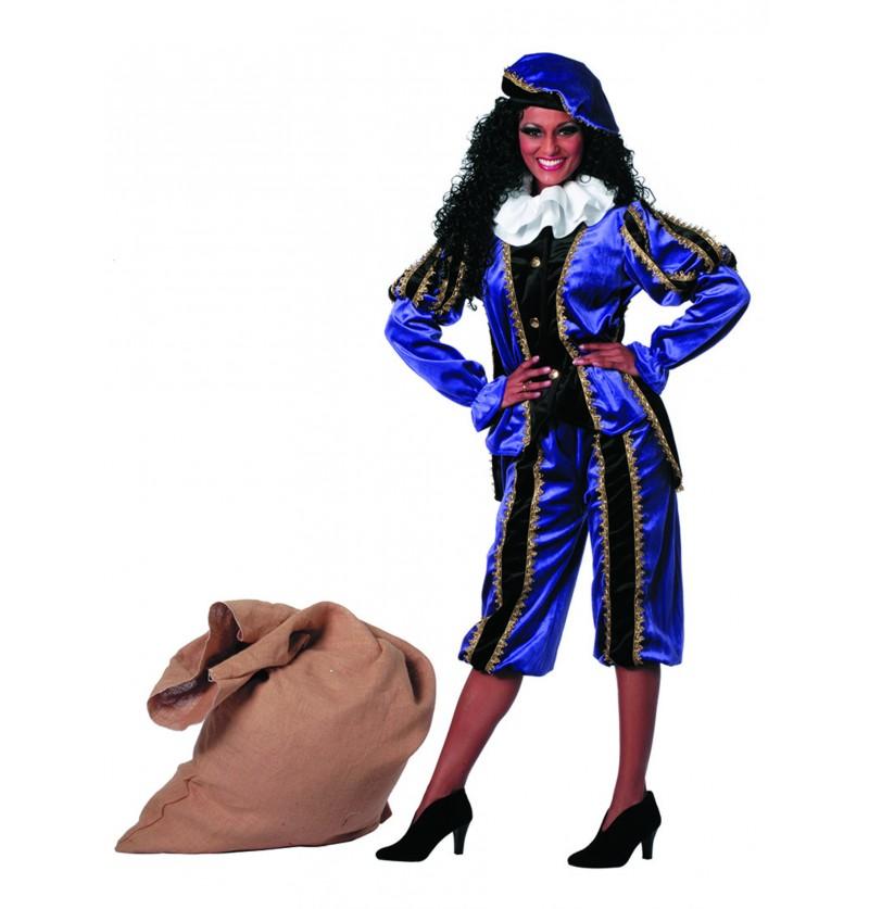 disfraz de pedro ayudante de san nicols morado para mujer