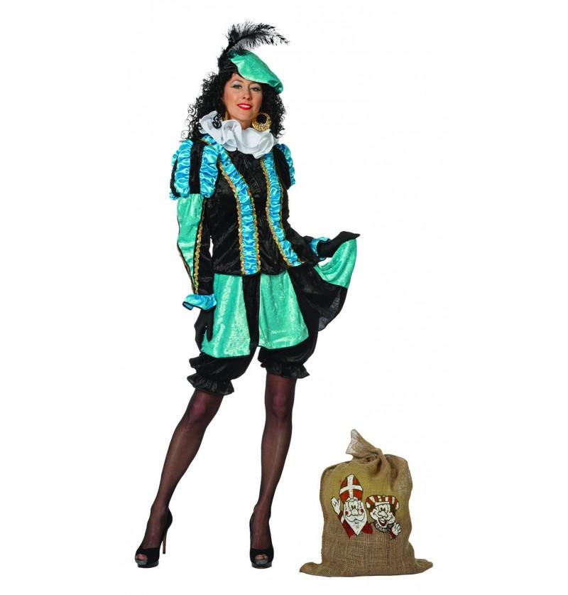 disfraz de pedro ayudante de san nicols turquesa para mujer