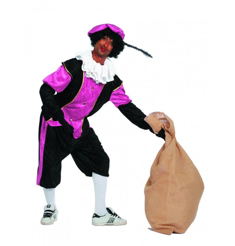 disfraz de pedro ayudante de san nicols rosa para hombre