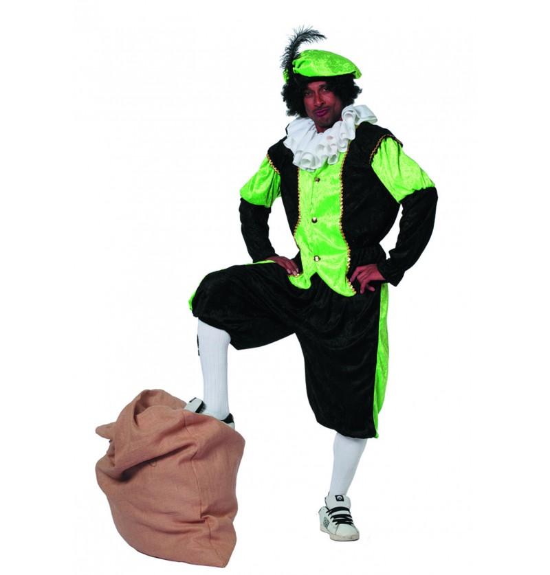 disfraz de pedro ayudante de san nicols verde para hombre