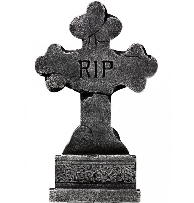 Lápida en cruz RIP