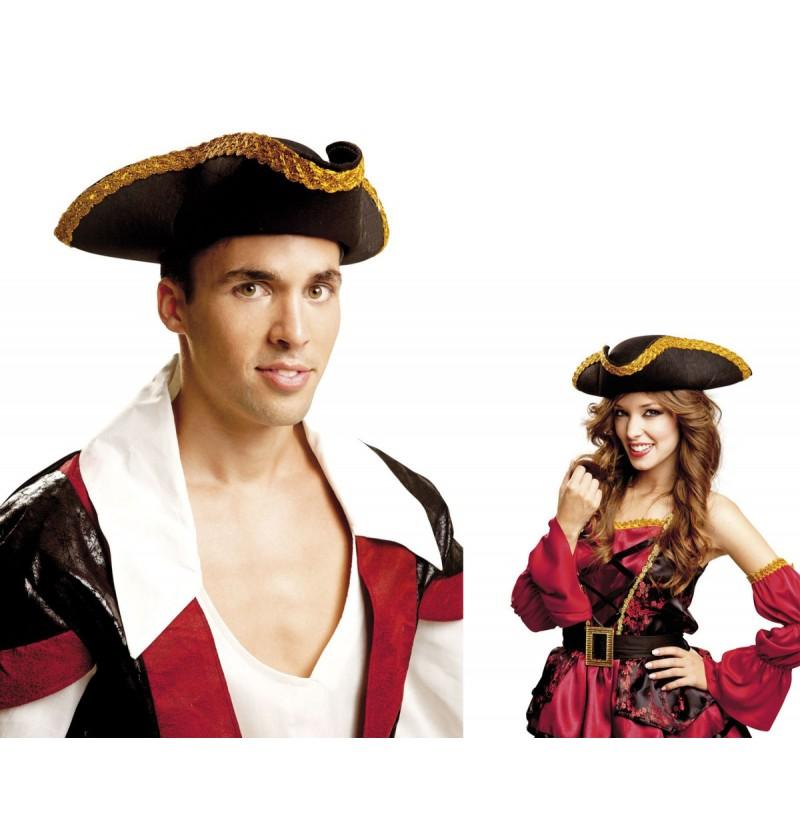 Sombrero de pirata deluxe para adulto
