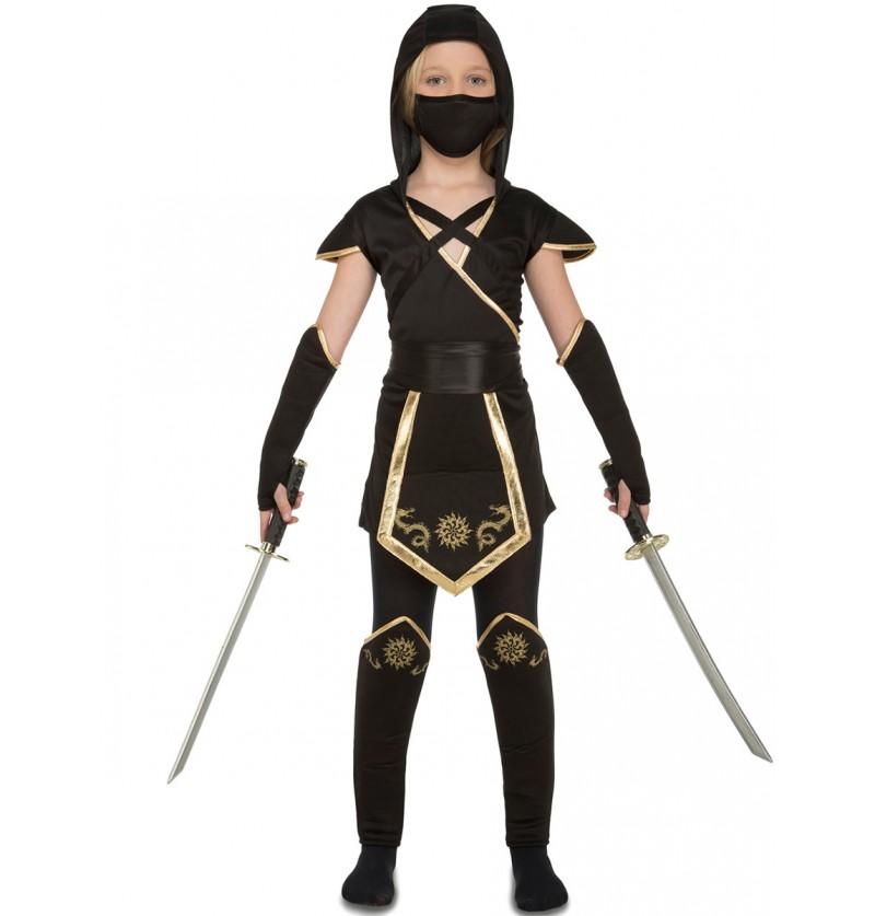 Disfraz de ninja astuta para niña