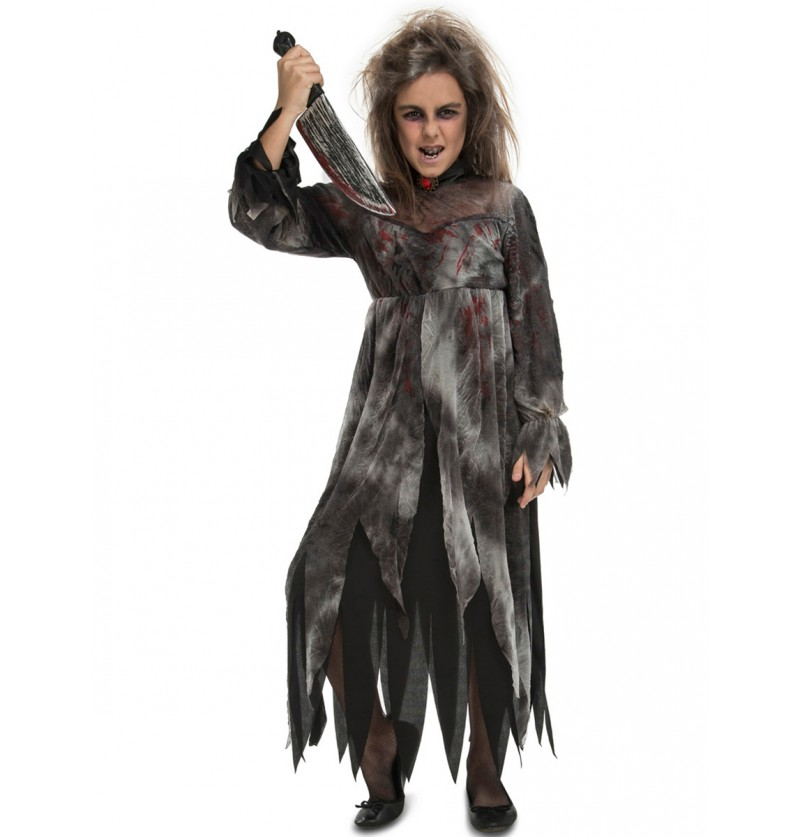 Disfraz de perturbada fantasmagórica para niña