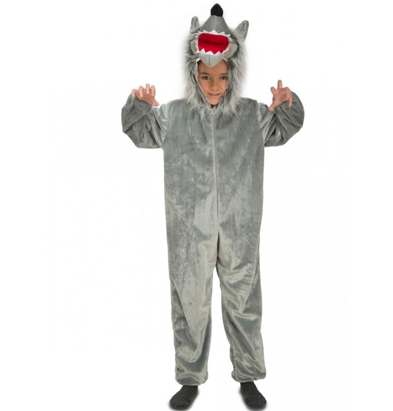 Disfraz de lobo feroz peludo para bebé