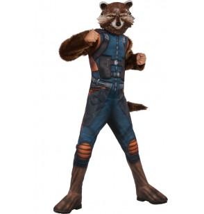 Disfraz de Rocket Raccoon Guardianes de la Galaxia 2 deluxe infantil