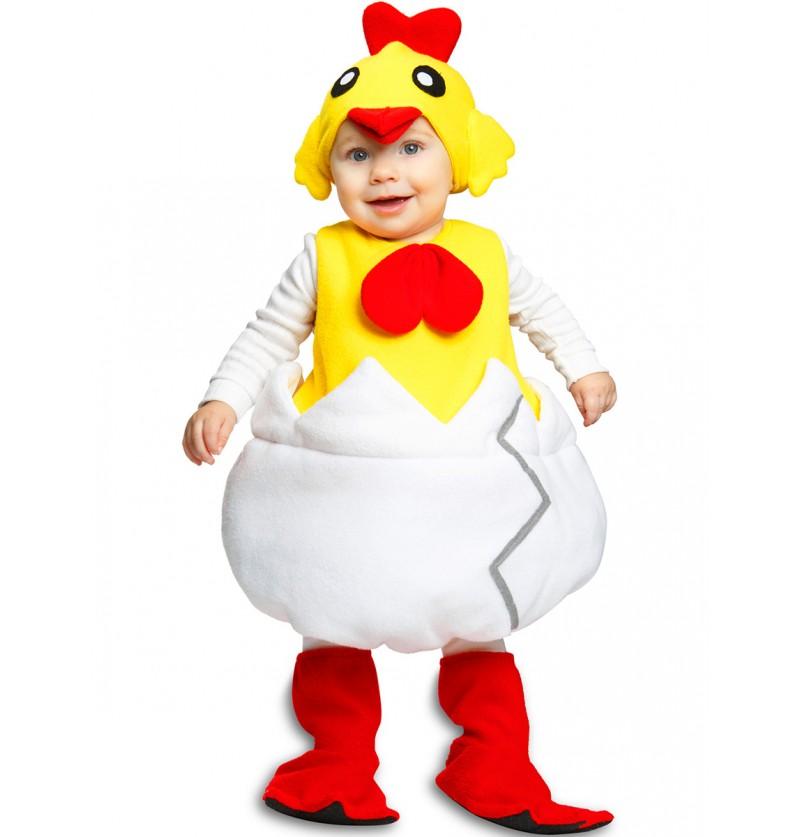 Disfraz de pollito saliendo del cascarón infantil