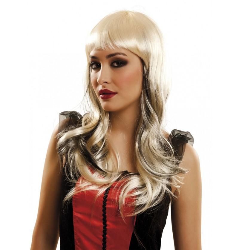 Peluca rubia de vampiresa para mujer