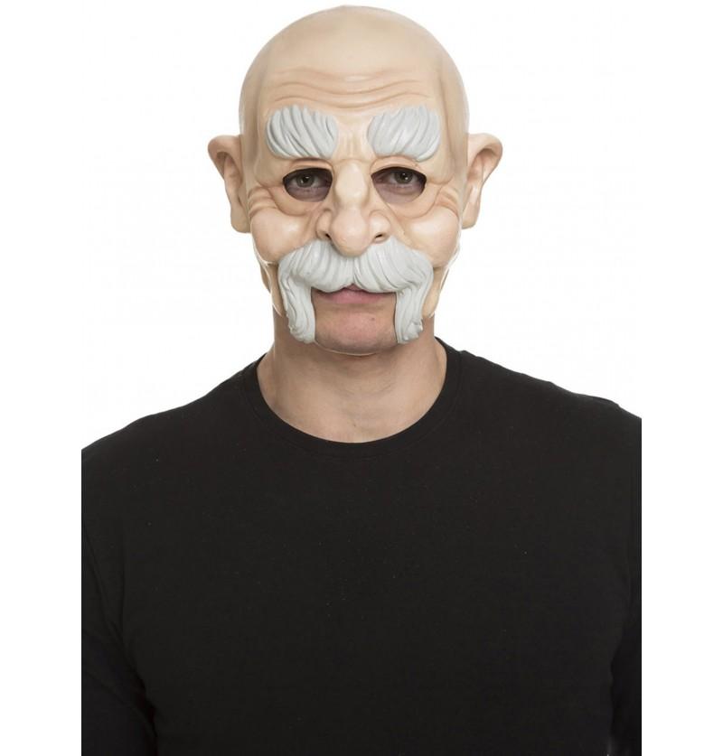mscara de anciano calvo para adulto
