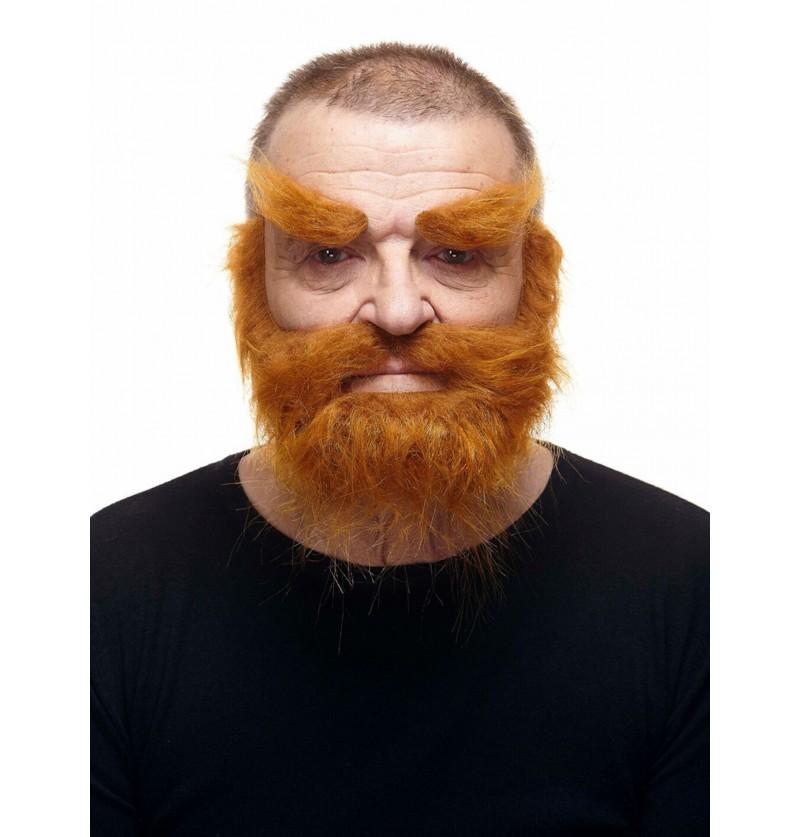 cejas bigote y barba super poblados pelirrojos