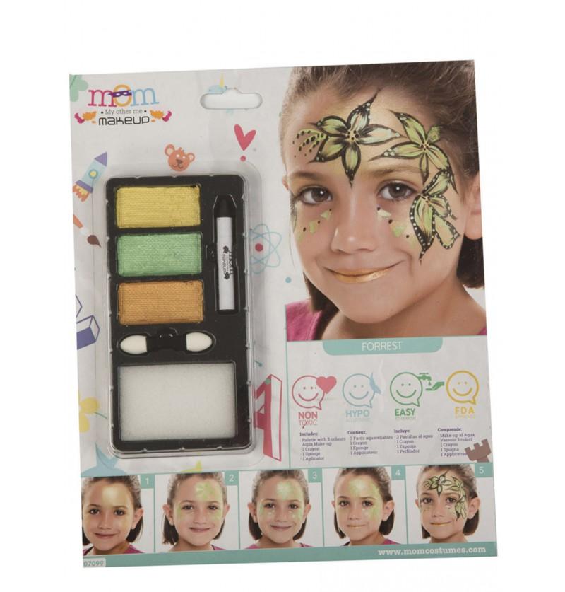 maquillaje de princesa del bosque infantil