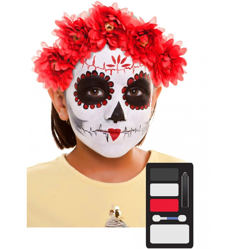 maquillaje de catrina infantil