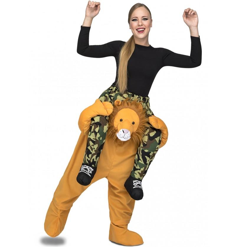 disfraz de len ride on para adulto