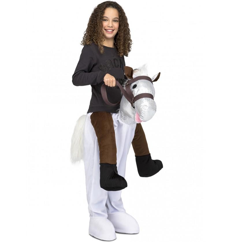 disfraz de caballo blanco ride on infantil