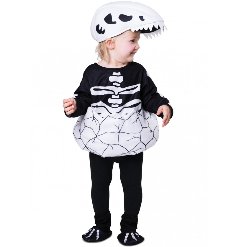 disfraz de esqueleto de dinosaurio recin nacido para beb