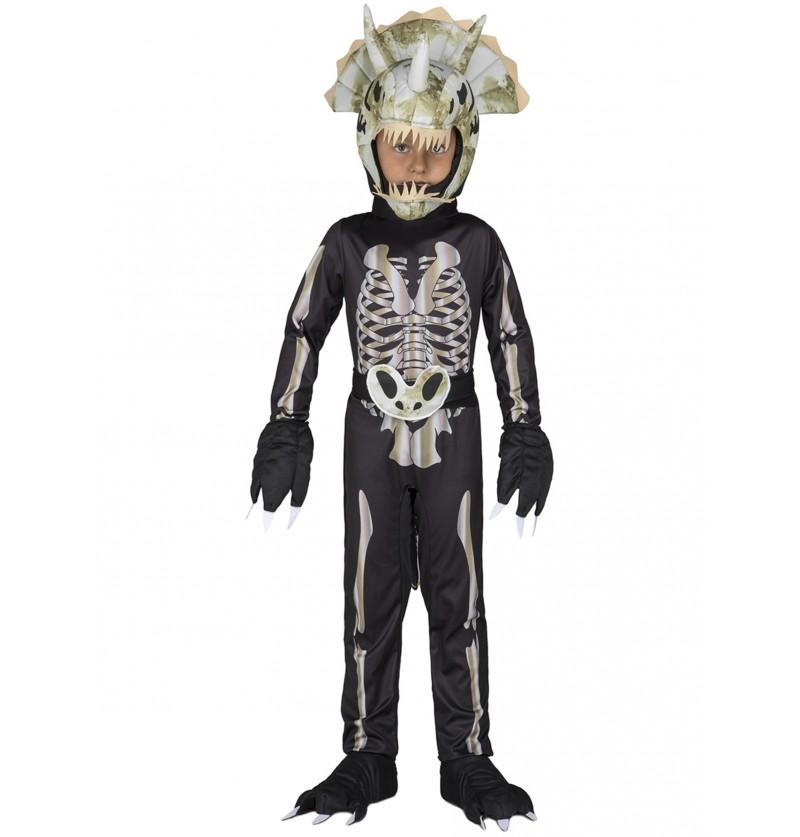 disfraz de esqueleto de dinosaurio para nio