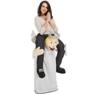 Disfraz de ángel llévame al cielo ride on para adulto