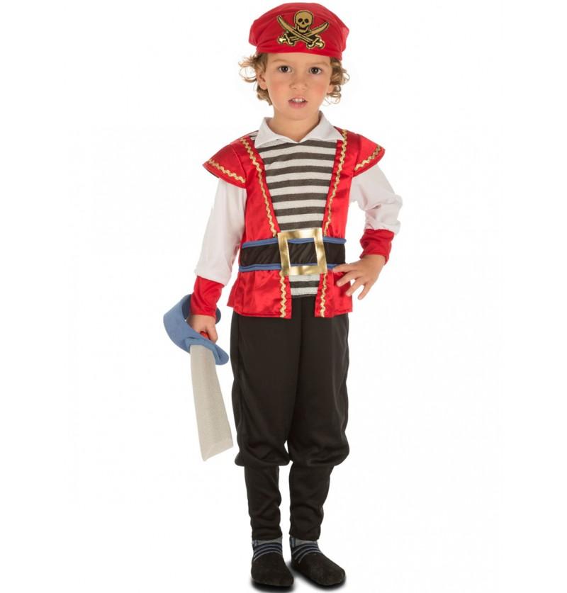 Disfraz de piratita valiente para niño