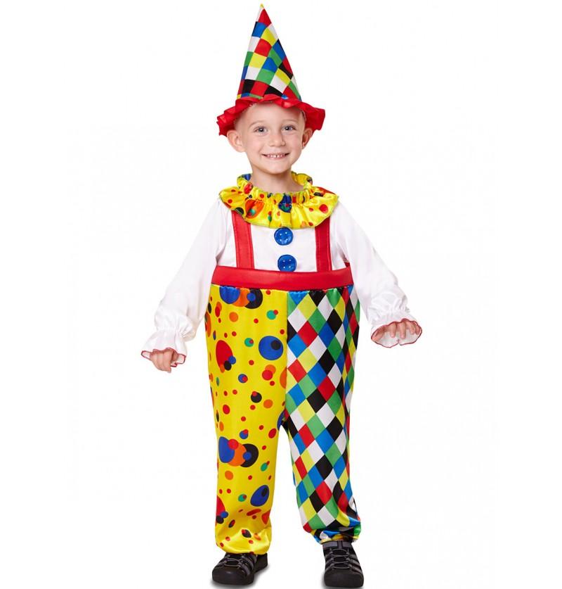 Disfraz de payaso colorido para niño