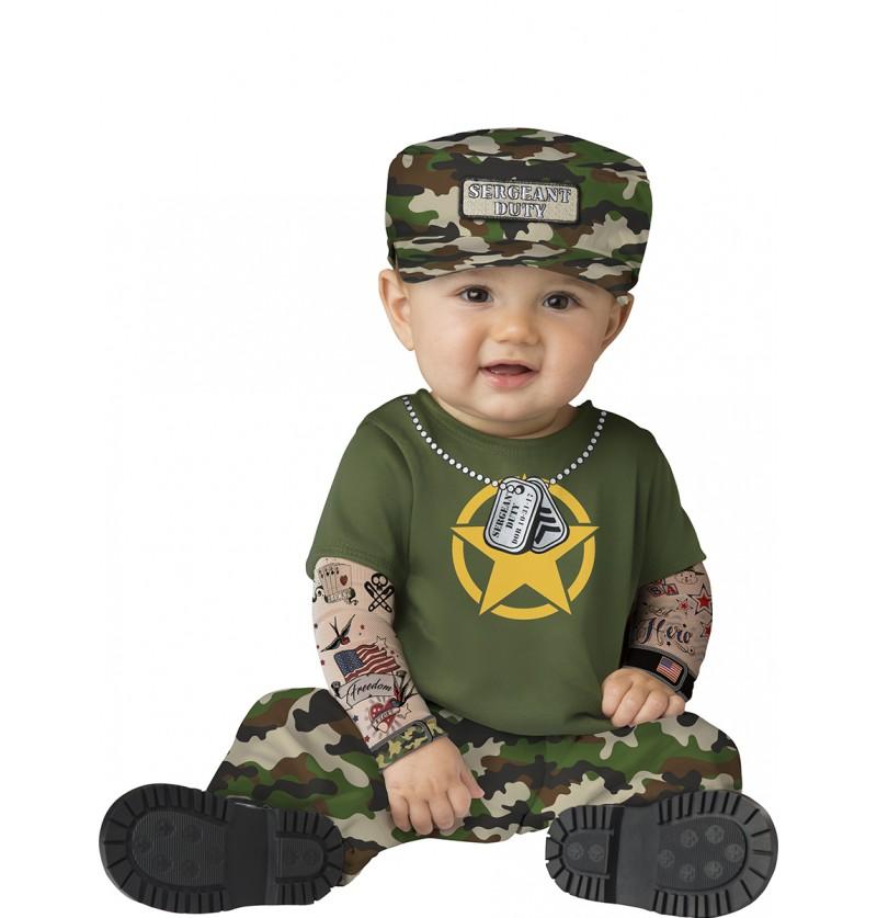 Disfraz de militar malote para bebé