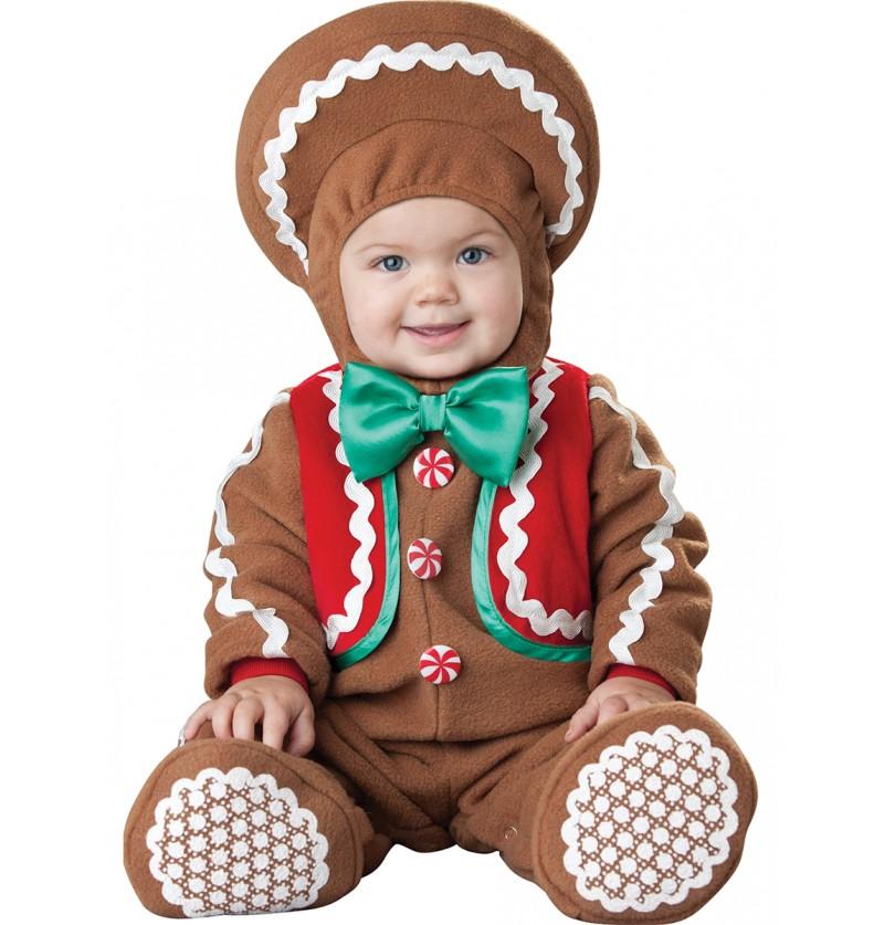 Disfraz de galleta de jengibre pará bebé