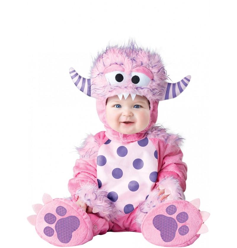 Disfraz de monstruito rosa para bebé