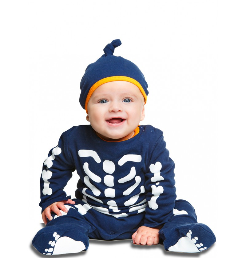 Disfraz de esqueletito para bebé