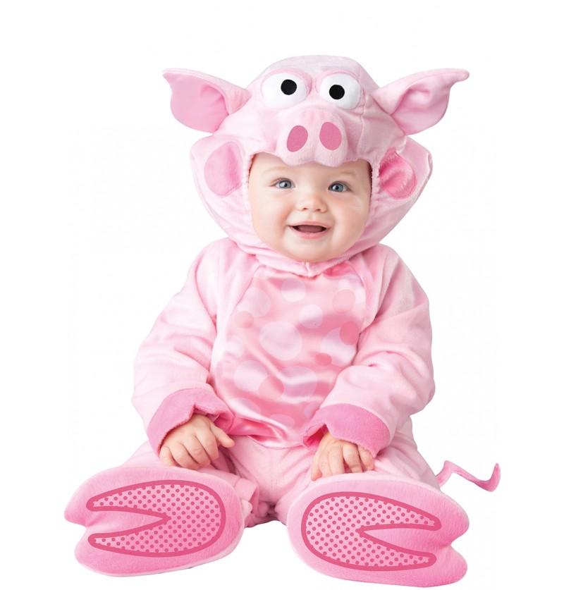 Disfraz de cerdo amoroso para bebé