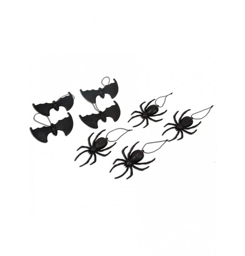 Colgantes de arañas y murciélagos
