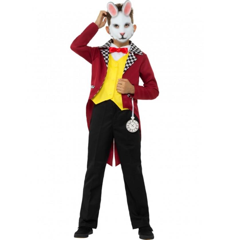 disfraz de sr conejo blanco para nio