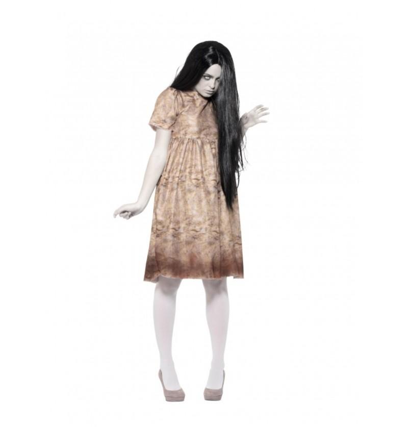 disfraz de espritu maligno gris para mujer