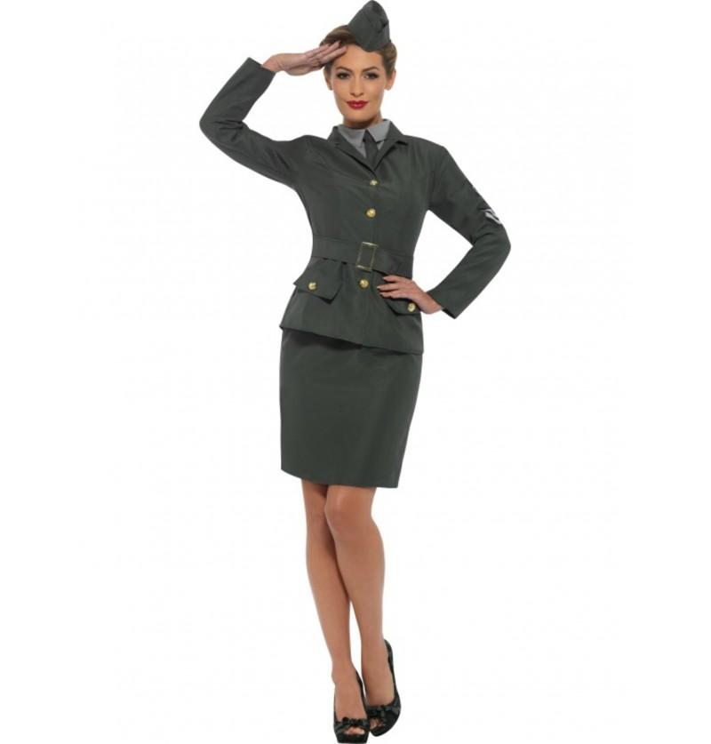 disfraz de soldado de la segunda guerra mundial para mujer