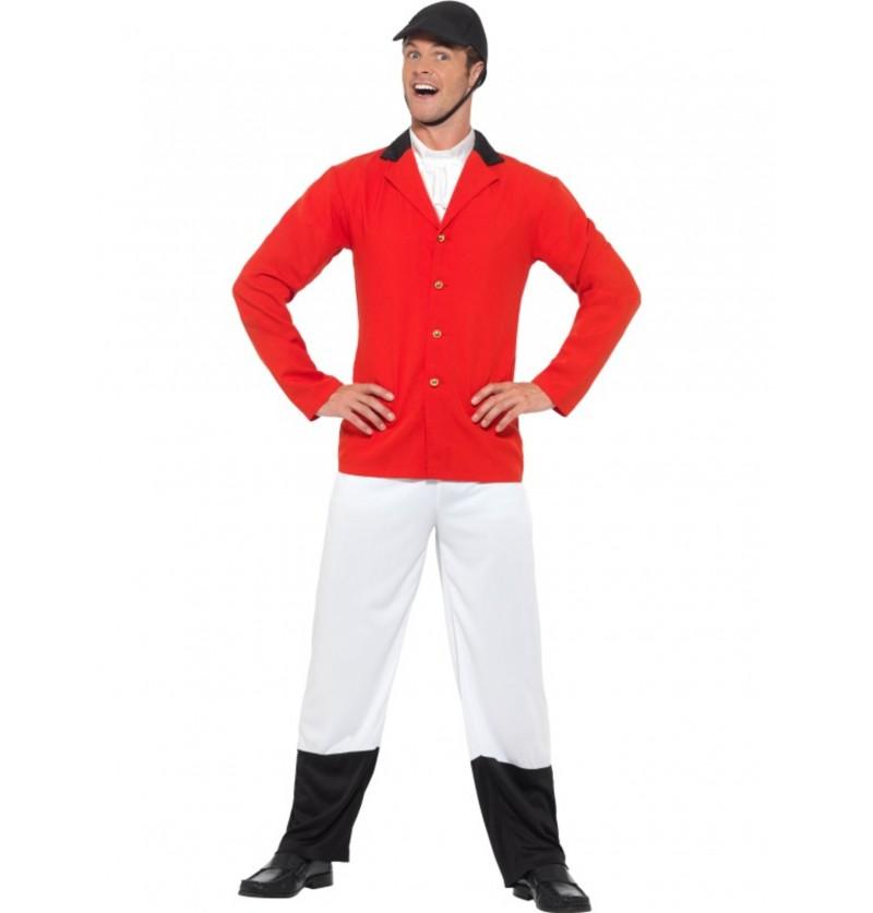 disfraz de jinete rojo para hombre