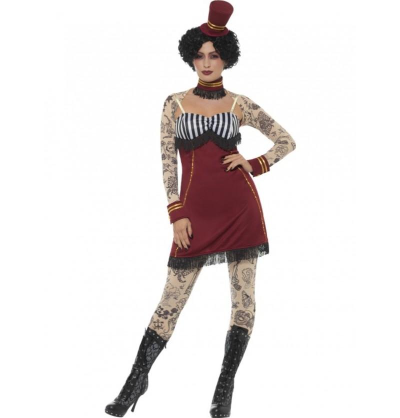 disfraz de domadora de circo con tatuajes para mujer