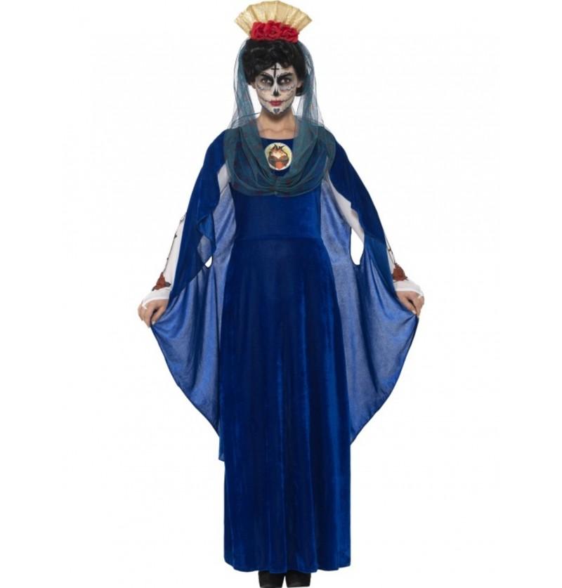 disfraz de virgen catrina da de los muertos para mujer